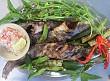 Cá leo nướng chấm muối ớt đặc sản Quảng Ngãi