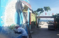 Đảo Bé sẽ có làng bích họa về biển đảo