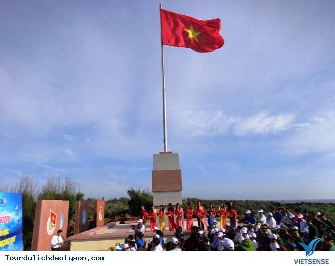 lễ khánh thành cột cờ huyện đảo lý sơn