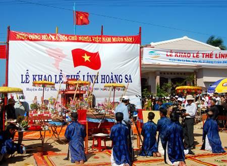 Lễ khao lề thế lính Hoàng Sa trên Đảo Lý Sơn,le khao le the linh hoang sa tren dao ly son